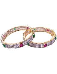 Goonj The Rhythm Of Jewels Fancy CZ Bangles For Women B50 (Size 2.6)