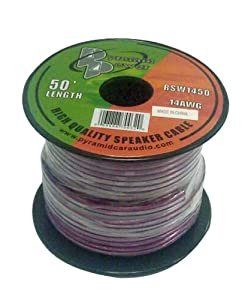 Pyramid RSW1450 14 Gauge 50 Feet Spool of High Quality Speaker Zip Wire