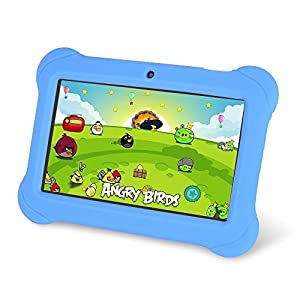 """Zeepad Kids TABZ7 Android 4.4 Quad Core Five Point Multi Touch Tablet PC, 7"""", 4GB, Kids Edition, Blue"""
