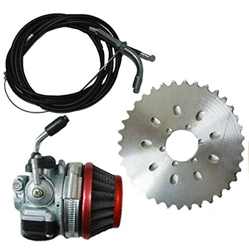 Generic Sprocket Racin Carb Kit Fit For 2 Stroke 49cc To 80cc Engine Bicycle Motor (2 Stroke 18 Mm Carburetor compare prices)