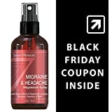 Migraine & Headache Pain Relief Magnesium Essential Oil Spray - 100% Natural & Organic - Made in USA - Free Guide Included (4 fl oz /120ml)