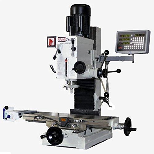 9-12-x-32-Gear-Drive-Milling-Machine-W-X-Axis-Power-Feeder-3-Axis-DRO-ZX45PD
