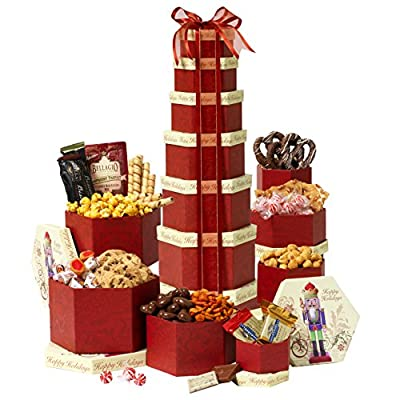 Broadway Basketeers Seasons Greetings Gift Tower