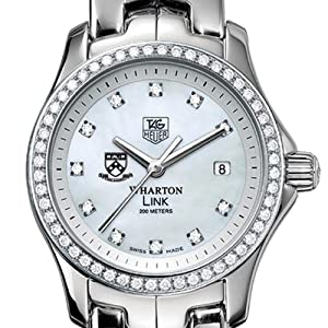 The Wharton School TAG Heuer Watch - Women's Link Watch with Diamond Bezel