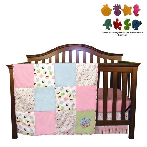 Pink And Teal Baby Bedding 8759 front