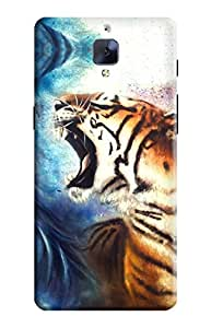 Kanvas Cases Printed 3D Matte Finish Hard Case Back Cover For Oneplus Three With Earphone Cable