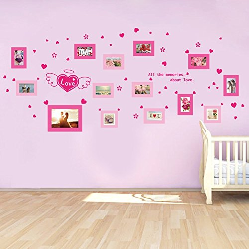 Woooow® DIY Family photo wall Removable Mural PVC Wall Art Decal Sticker