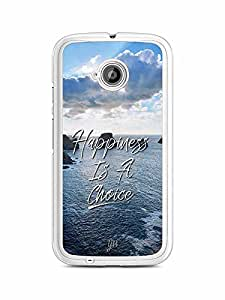 YuBingo Happiness is a Choice Designer Mobile Case Back Cover for Motorola E2