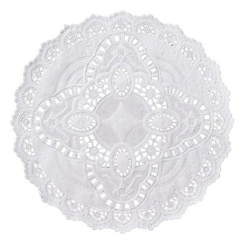 Round White Grease Proof Paper Doilies Baking Decorating Crafts 4 In 50 Ct