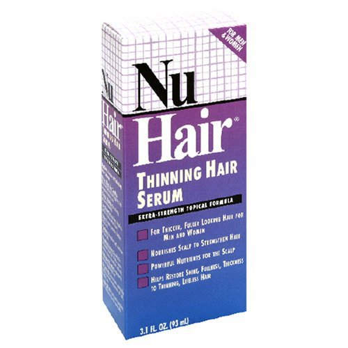 NuHair Thinning Hair Serum, for Men & Women, 3.1-Ounce Bottle
