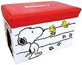 スヌーピー キャラクターストレージボックス 折りたたみ可 ホワイト 012152