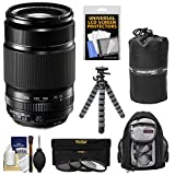 Fujifilm 55-200mm f/3.5-4.8 XF R LM OIS Zoom Lens with 3 UV/CPL/ND8 Filters + Backpack + Tripod Kit for X-A1, X-E1, X-E2, X-M1, X-Pro1 Digital Cameras