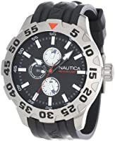 Nautica Men's N15564G BFD 100 Multifunction Black Dial Watch by Nautica