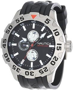 Nautica Men's N15564G BFD 100 Multifunction Black Dial Watch