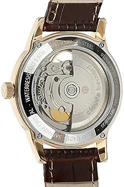 Claude Bernard Women's 85018 37R BRBR Automatic Open Heart Analog Display Swiss Automatic Brown Watch