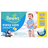 Pampers Easy Ups Training Pants Diapers for Boys, Value Pack, Size 2T3T, 100 Count