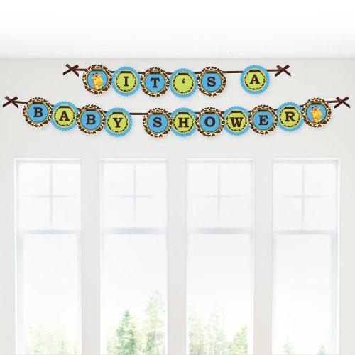 Giraffe Boy - Baby Shower Garland Banners front-145908