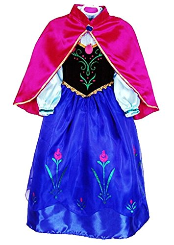Princess Anna  Cosplay Dress Up Gown