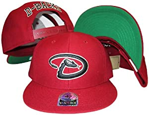 Arizona Diamondbacks Red Plastic Snapback Adjustable Plastic Snap Back Hat Cap by Banner