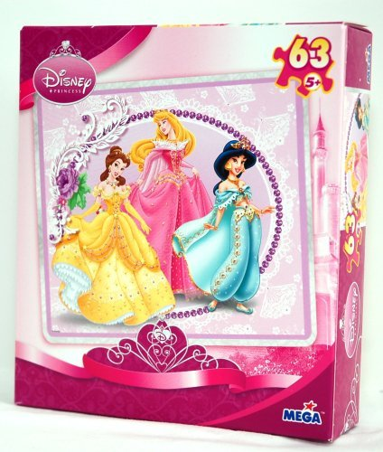 Disney Princess Puzzle - 63 Pieces - Off To The Ball - Posing Pretty - 1