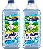 Minidou - Adoucissant Liquide Concentré - Bambou et Fleurs de Lotus - Flacon 1,875 L / 75 Lavages - Lot de 2