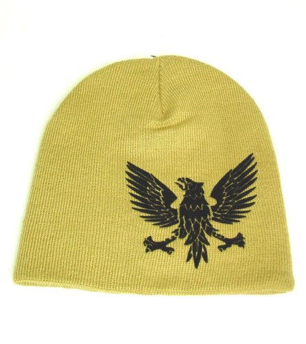 Broner Hats Eagle Design Beanie Tan
