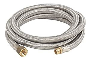 bayou classic m7910 10 ft high pressure lpg hose stainless steel braided patio. Black Bedroom Furniture Sets. Home Design Ideas