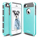 iPhone 5S Case, iPhone SE Case, iPhone 5 Case,Hinpia [Seaplays] Dual Layer Ultra Slim Bumper Cover Rugged Hybrid Shock-Absorption and Anti-Scratch Impact Protective Case