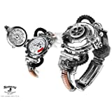 Alchemy Gothic Steampunk Eer Steam Powered Entropy Calibrator Pewter Brass Watch - One Size