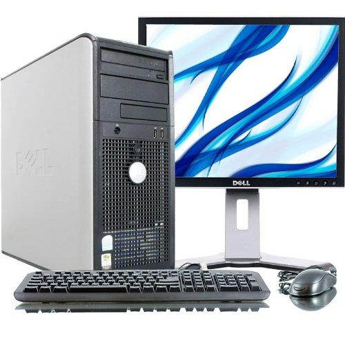 "Dell Optiplex Gx620 Intel Pentium 4 2800 Mhz 80Gig Serial Ata Hdd 4096Mb Ddr2 Memory Dvd Rom Genuine Windows 7 Home Premium 32 Bit + 19"" Flat Panel Lcd Monitor Desktop Pc Computer"