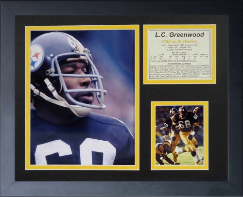 "L.C. Greenwood 11"" x 14"" Framed Photo Collage by Legends Never Die, Inc. at Amazon.com"
