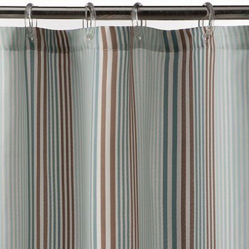 Sonoma Bayside Stripe Fabric Shower Curtain Blue Brown Str