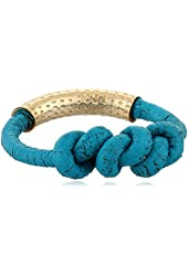 by boe Turquoise Leather Knot Ring, Size 7.5