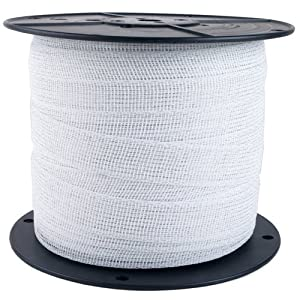 Zareba Electric Fence Heavy-Duty White Poly Tape - 656 Feet x 1 Inch PTW6 (Discontinued by Manufacturer)