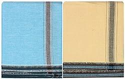 P.A.K PLATINUM Men's Cotton Lungis - Pack of 2 (Multi-coloured)