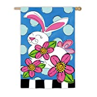 Polka Dot Bunny Suede Reflections House Flag