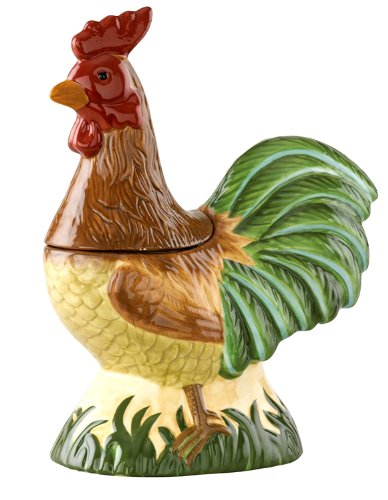 Rooster Ceramic Cookie Jar