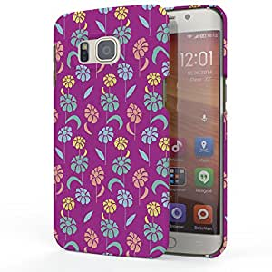 Koveru Designer Printed Protective Back Shell Case Cover for Samsung Galaxy S6 Edge Plus - TGC pink flower pattern