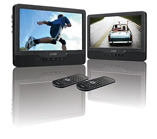 LOGIK L9DUALM13 Dual Screen Portable DVD Player - Black
