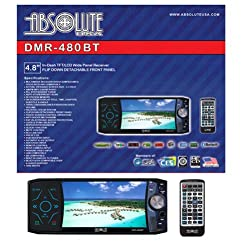 See Absolute DMR-480BT 4.8-Inch In-Dash Multimedia Touch Screen System with Detachable Front Panel Face and Built Bluetooth USB/SD Details