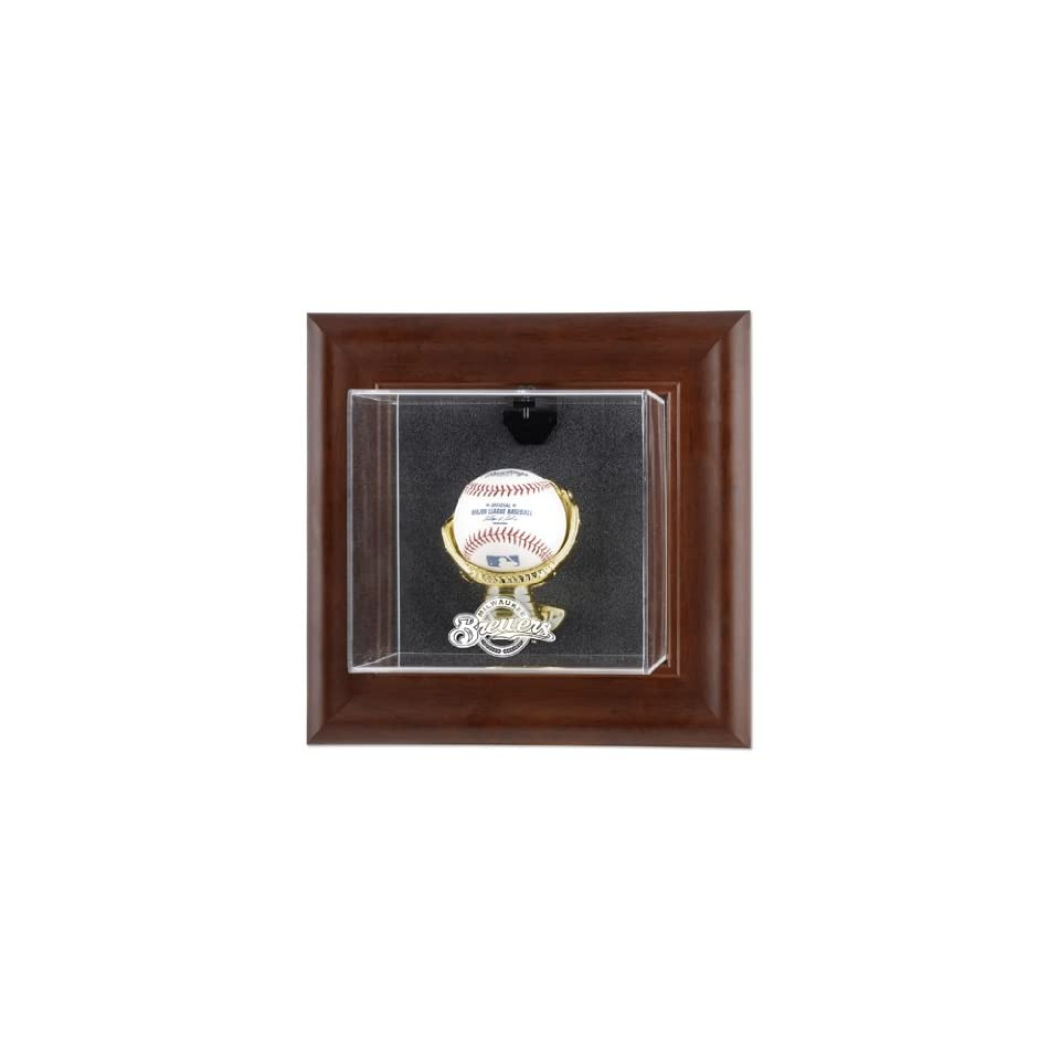 Mounted Memories Milwaukee Brewers Brown Framed Wall Mounted