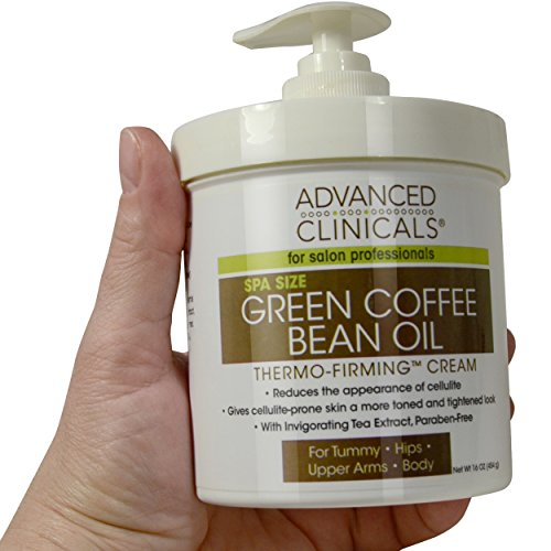 Advanced Clinicals Green Coffee Bean Oil Thermo-firming Body Cream 16oz Spa Size (Skin Tightening Cream For Stomach compare prices)