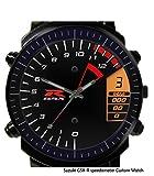 New Custom Personality Speedometer Suzuki GSX R Wristwatch New Rubber Blueish Glass