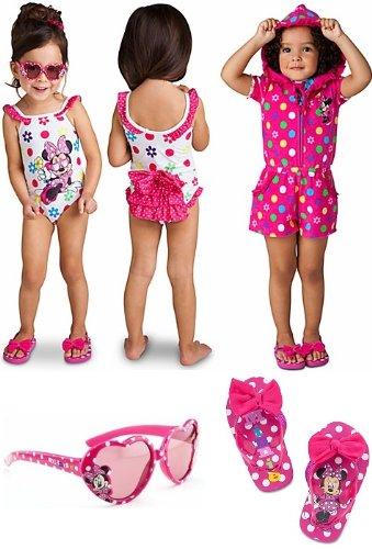 2224b5defbb8 Disney Store Minnie Mouse 4-Piece Swimwear Set for Toddler Girls Size 4T   1-Piece Swimsuit