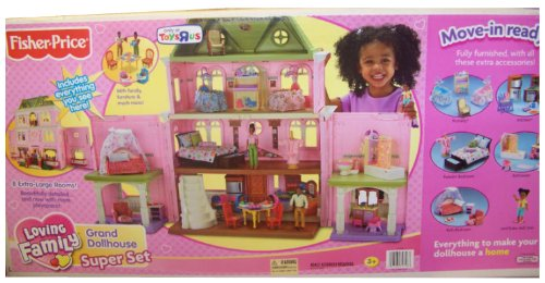 Fisher-Price Loving Family Grand Dollhouse Super Mega Set - African American **6 Rooms of furniture**