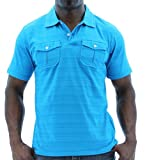 Company 81 Mens Swelter Stripe Polo Shirt Lightweight Ultrasoft Cotton