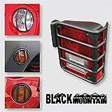 ブラック ライト ガード キット ために リア テイル ライト ヘッドライト ターン シグナル インジケータ フィット 07-14 ラングラー JK(6ピース)