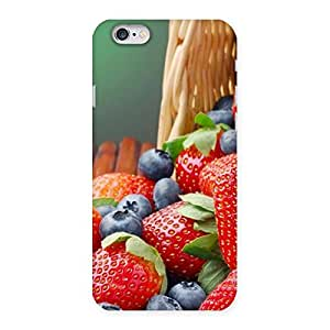 Stylish Delicious Straberry Multicolor Back Case Cover for iPhone 6 6S