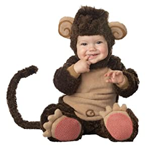 Lil Characters Infant Monkey Costume, Brown/Tan, 18-24 Months
