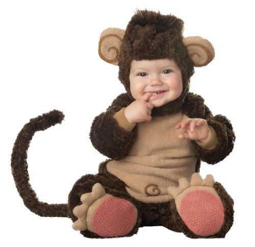 Lil Characters Infant Monkey Costume, Brown/Tan, 6-12 Months (Small)